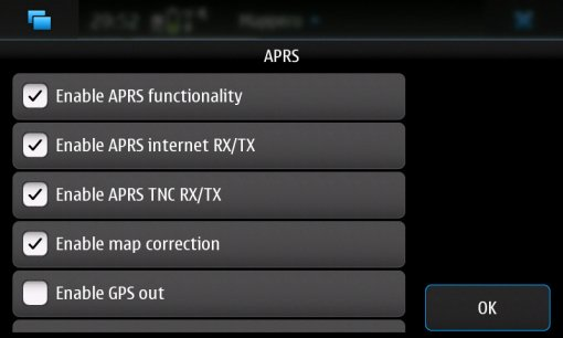 NOKIA N900 with APRS features,mappeo,wireless bluetooth TNC