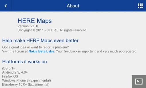 here maps for maemo - maemo org - Talk