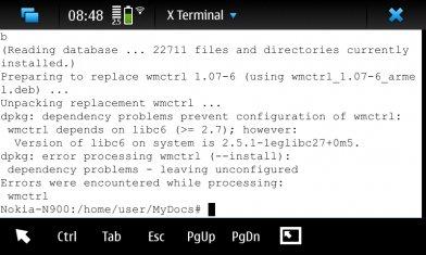installing Easy Debian v0 9 56-1fremantle1on nokia n900